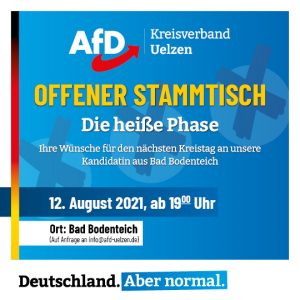 Read more about the article Offener Stammtisch im August 2021