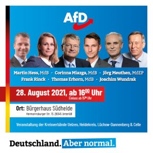 Read more about the article Wahlkampfveranstaltung am 28.08.2021